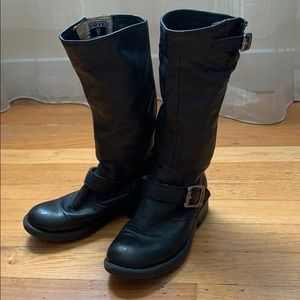 Frye Boots. Kids Size 11 Tall Black Leather 👢